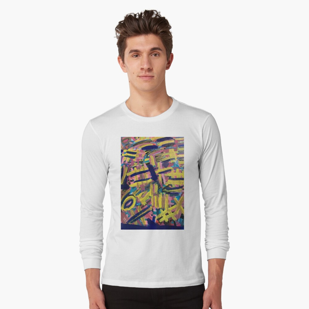 Chaos of Abstract Geometric Lines Long Sleeve T-Shirt