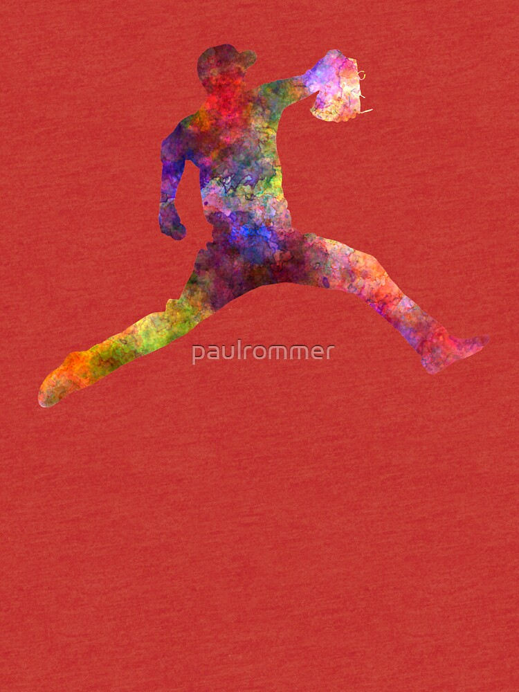 Baseball player throwing a ball by paulrommer