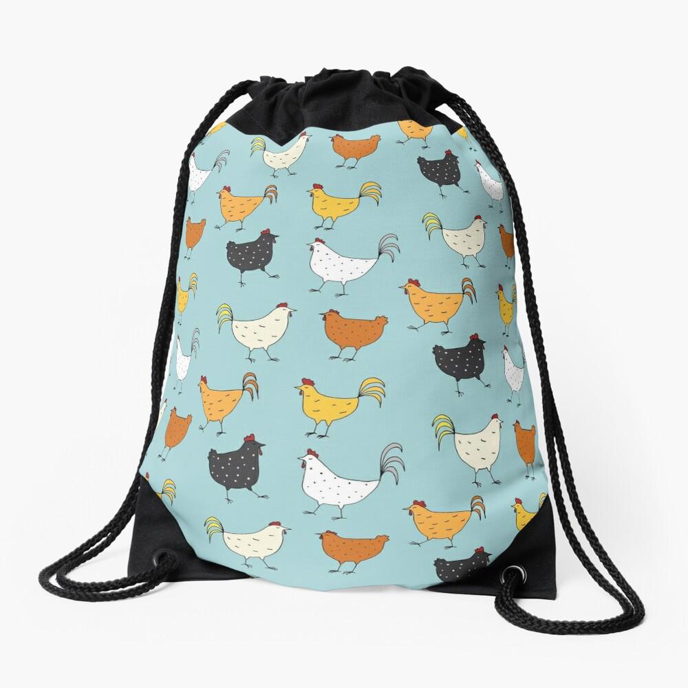 Chicken Pattern Drawstring Bag