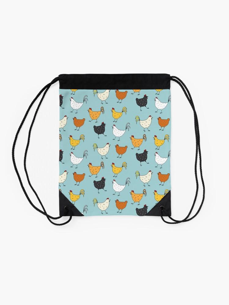 Alternate view of Chicken Pattern Drawstring Bag