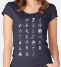 A - Z of 8-bit video games Women's Fitted Scoop T-Shirt