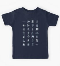 A - Z of 8-bit video games Kids Tee
