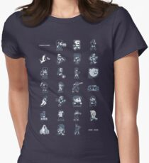 A - Z of 8-bit video games Women's Fitted T-Shirt