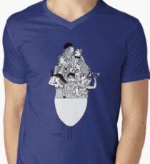 Retro Mens V-Neck T-Shirt