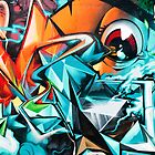 Abstract Colorful Graffiti with an Eye  by yurix
