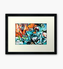 Abstract Colorful Graffiti with an Eye  Framed Print