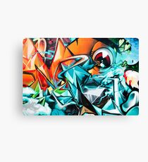 Abstract Colorful Graffiti with an Eye  Canvas Print