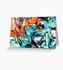 Abstract Colorful Graffiti with an Eye  Greeting Card