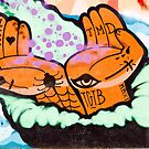 Abstract Graffiti detail with hands. by yurix