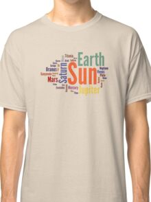 Solar System Word Cloud Classic T-Shirt