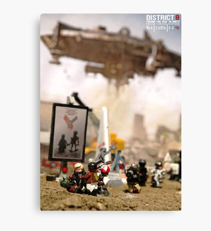 """DISTRICT 9 """"Paving the way to unity"""" poster Canvas Print"""