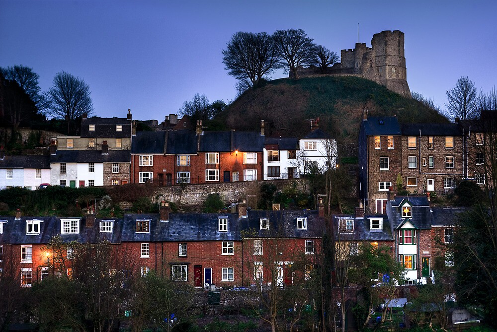 Lewes Castle and Houses by James Winn