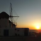 The famous windmills of Mykonos by Themis