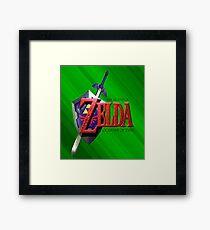 Legend Of Zelda Ocarina Of Time Framed Print