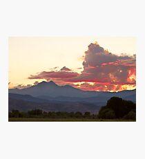 Twin Peaks Longs Meeker August Sunset 0 Photographic Print