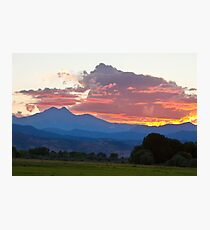 Twin Peaks Longs Meeker August Sunset 1 Photographic Print