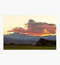 Twin Peaks Longs Meeker August Sunset 3 Photographic Print
