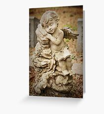 Holy Reader Resting with Friends Greeting Card