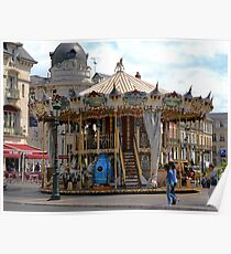 Jules Verne Merry Go Round Poster