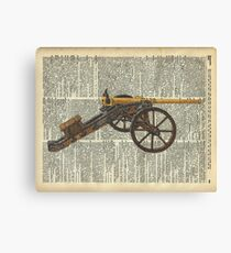 Old canon Dictionary Art Canvas Print