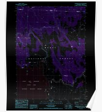 USGS Topo Map California Sagebrush Butte 294896 1988 24000 Inverted Poster