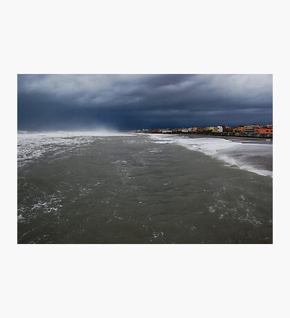 Stretch of land in the storm Photographic Print