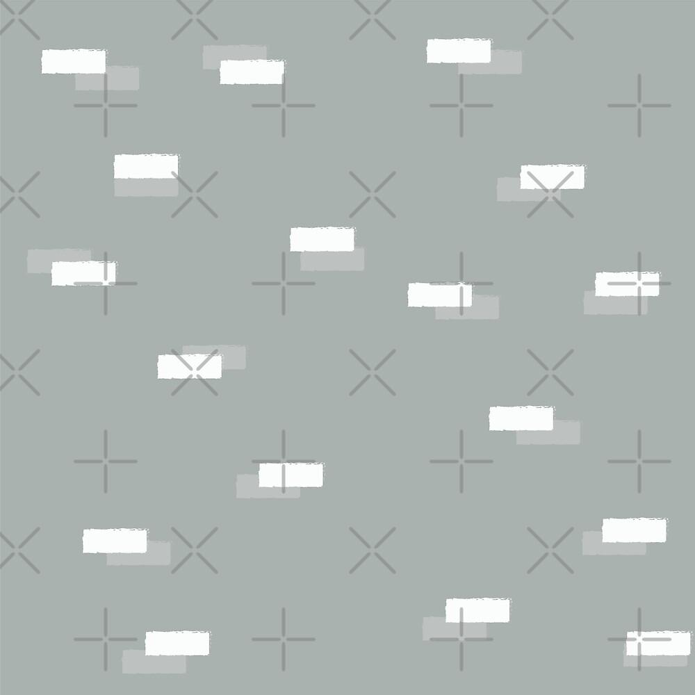 Geometric blocks seamless pattern by BlueLela