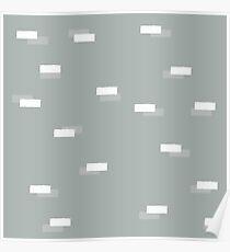 Geometric blocks seamless pattern Poster