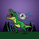 Tyrannosaurus Rex Roars - T Rrex Rawr by beanarts