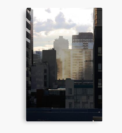 Layered City Canvas Print