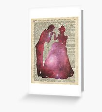 Prince and Princess Valentine Fairytale Space Stencil Greeting Card