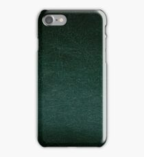 Dark green leather texture abstract  iPhone Case/Skin