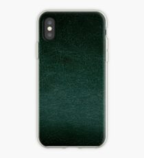 Dark green leather texture abstract  iPhone Case