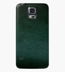 Dark green leather texture abstract  Case/Skin for Samsung Galaxy
