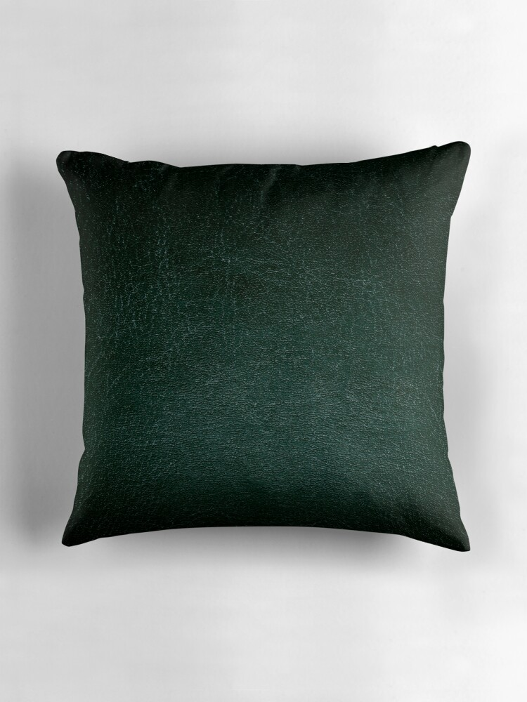dark green leather texture abstract throw pillows by arletta cwalina redbubble. Black Bedroom Furniture Sets. Home Design Ideas
