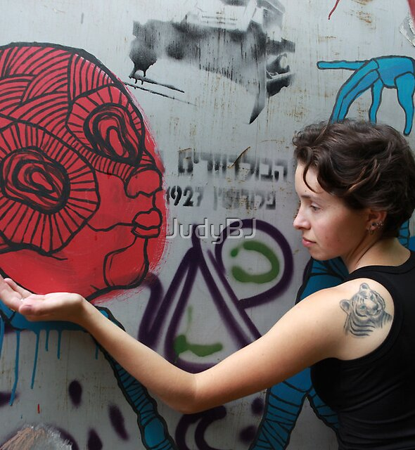 Portrait with street art by JudyBJ