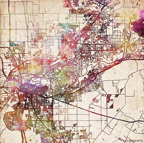 Sacramento map by MapMapMaps