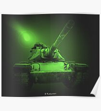 Night Patrol In A M48A2 Poster