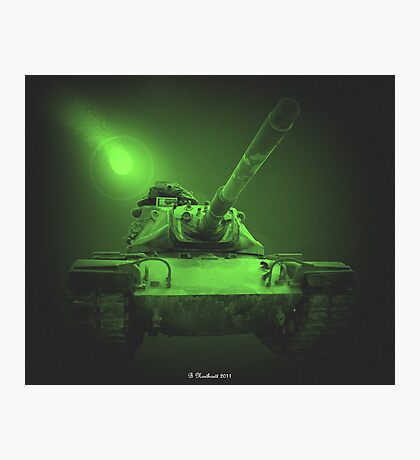 Night Patrol In A M48A2 Photographic Print