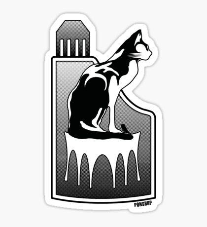 MONO Cat Tee Sticker