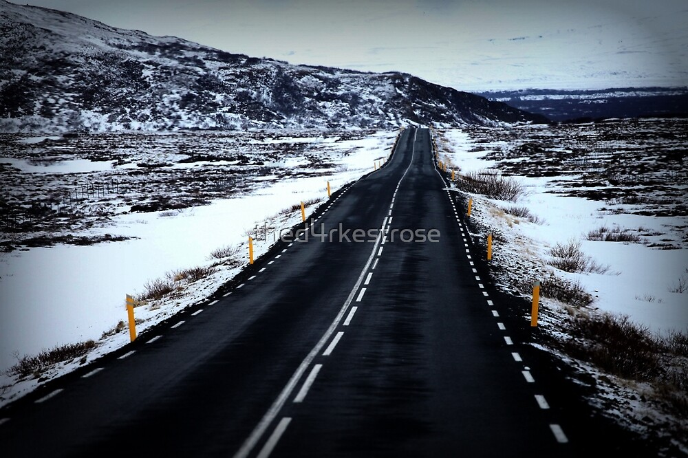 Snowy Road by thed4rkestrose