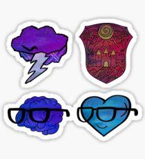 Galaxy Light Sides Icons Sticker