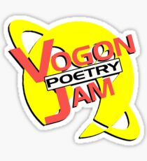 Vogon Poetry Jam (just logo) Sticker