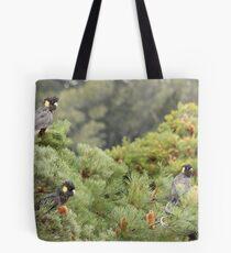 Black Cockatoos Tote Bag