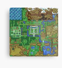 The Legend of Zelda: A Link to the Past Map Metal Print