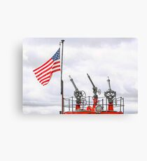 A Tribute To Marine Firefighters Canvas Print