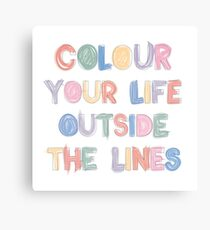 Colour Your Life Canvas Print