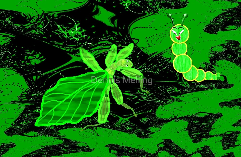 Eyes off I'm a Leaf 'Insect' (Phylliidae) Not a Walking Leaf! A design for everything by Dennis Melling