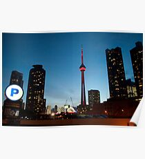 CN Tower and Parking Poster