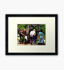 Amish Family Framed Print